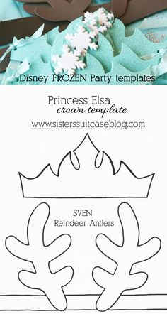 Sven antlers or Elsa crown party favors