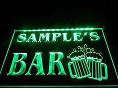 name #personalized #custom home bar beer mugs cheers led neon #light sign,  View more on the LINK: http://www.zeppy.io/product/gb/2/262793831061/