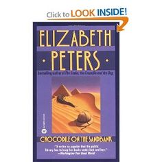 First in her Amelia Peabody Series.  She has been writing with these characters for almost 30 years now.