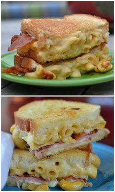 Bacon Ham & Mac N Cheese Sandwich
