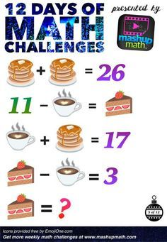 Are You Ready for 12 Days of Holiday Math Challenges? Maths Puzzles, Math Worksheets, Math Resources, Math Activities, Reto Mental, Math Challenge, Daily Math, Math About Me, Christmas Math