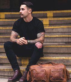 Men in black color inspiration Follow MenStyle1.comFacebook...
