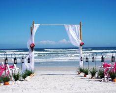 Premium Raised Wedding Shell Aisle Stagecoach Lanterns with Seashells, Conch Shells, & Starfish ♥ Ceremonies by the Sea New Smyrna Daytona Beach Wedding Officiant Ceremony Decor Volusia County