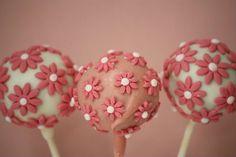 Mini Pink Flower Cake Pops