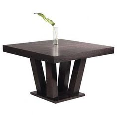 """Square dining table with a branching base.   Product: Dining tableConstruction Material: Ash and ash veneerColor: EspressoFeatures: Seats fourBranch base designDimensions: 30"""" H x 47"""" W x 47"""" D"""