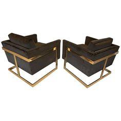 MILO BAUGHMAN - brass-back-chair