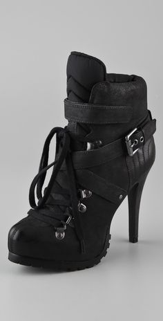 I could be comfortable in these heeled booties.