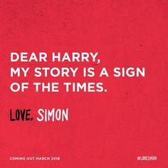 """""""Love, Simon"""" movie promo, dedicated to Harry."""