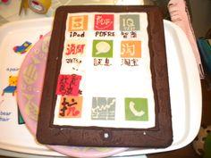 Shusuke won a prize of chocolate   i-pad (hotel's game)