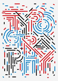 Typography :: Colored Lines of Typography - Sasaki Shun Graphic Works