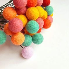 Through every dark night there's a bright day after that #billyballflowers #billybuttons #rainbowdecor #pompomflowers #feltballflowers #bilyballs #nurseryideas #nurserydecor #kidsroomdecor #babynursery #babygirl #colorful #dstexture #dscolor #craftsposure #craftspire #etsytown #handmade #mintpink #livelovelaugh #liveauthentic #wonderfulday #sunny #photooftheday #alternativebouquet #pompombouquet #fauxbouquet #weddingbouquet #weddingdecor #bridalbouquet