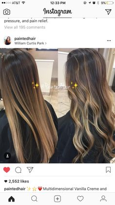 Lighter option for Summer Hair Color Balayage, Hair Highlights, Ombre Hair, Down Hairstyles, Pretty Hairstyles, Hair Color And Cut, Mi Long, Gorgeous Hair, Dyed Hair