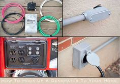 How To Hook Up A Generator To Your Home safely It is sad to say but having power to your house is taken for granted by millions of people every day and the Emergency Generator, Diy Generator, Portable Generator, Power Generator, Electrical Work, Electrical Projects, Electrical Installation, Electrical Engineering, House Wiring