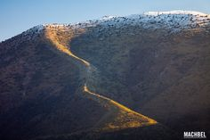 Nieve sobre las montañas Sierra de Cádiz y de Grazalema Andalucia España by machbel