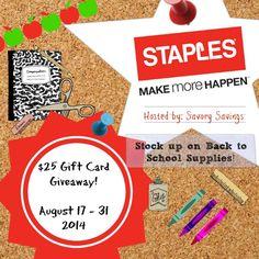 $25 Staples GC School Supply Stock Up Giveaway - Queen of Savings