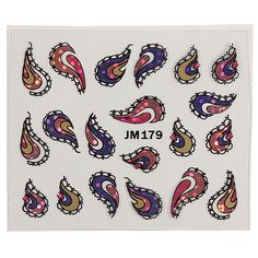 15 Sheets 3D Nail Art Tips Stickers