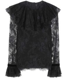 mytheresa.com - Ruffled lace blouse - Ballet luxe - Trends - Inspiration - Luxury Fashion for Women / Designer clothing, shoes, bags