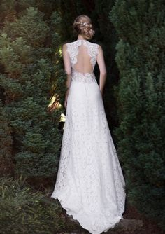 Showcasing the 2015 wedding dress collection from French Wedding dress designer of Fabienne Alagama Bridal Wear with barely there backs and lace detailing Wedding Outfits For Women, 2015 Wedding Dresses, Designer Wedding Dresses, Wedding Gowns, Bridesmaid Dresses, Lace Wedding, French Wedding Dress, Weeding Dress, Dress Collection