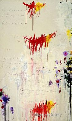 Cy Twombly - Quattro Stagioni Part I Primavera c1993 Reproduction Oil Painting
