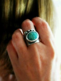 Simple modern turquoise ring