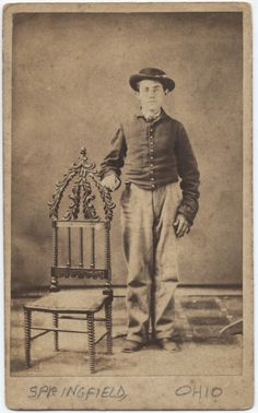 Civil War Union soldier, photographed in Ohio, date unknown