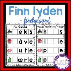 Finn lydene - Firelydsord by LaerMedLyngmo Teacher Pay Teachers, Teacher Resources, Unit Plan, Interactive Notebooks, Teacher Newsletter, Task Cards, Ark, Teaching, Education