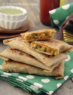 Lifafa literally means envelope or packet, and that is precisely what the whole wheat rotis act as in this recipe.