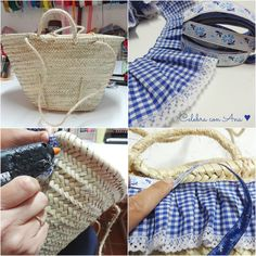 Capazo Diy Clutch, Clutch Bag, Diy Clothes Bag, Diy Sac, Ibiza Fashion, Craft Bags, Basket Bag, Denim Bag, Summer Bags