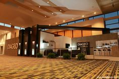 Wide view of the Diageo stand at the Duty Free Show of the Americas 2013.