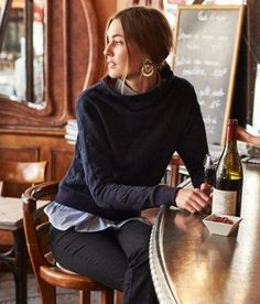 Dotted Funnelneck Pullover #anthroregistry: