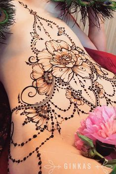 Beautiful Belly Henna Tattoos Picture 3 39 Henna Tattoo Designs: Beautify Your Skin With The Real Art Juli mandalas … Henna Tattoo Designs, Henna Tattoos, Henna Tattoo Back, Henna Inspired Tattoos, Henna Body Art, Bild Tattoos, Hot Tattoos, Body Art Tattoos, Sleeve Tattoos
