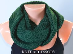 Knitted Collar,infinity scarf, Knit Neck Warmer,  Knit Scarf,  knit collar, womens knitwear, winter accessory, soft warm scarf, gift for her - pinned by pin4etsy.com