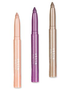 Smudge Crayons in Kitten, Pink Violet, and Smoke, $22 each; #Stila