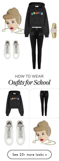 """""""Back to school"""" by kori-wainwright on Polyvore featuring Danielle Nicole, Être Cécile, Paige Denim, Gucci and awesome"""