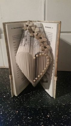 Book folded small heart... Bookfolding book by KatieCraftyCreation