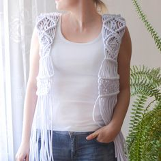 Here it is! Zpagetti yarn macrame vest! My first attempt to create my dream #macramevest. First of al