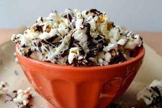 17 Totally Genius Ways To FlavorPopcorn - Dark Chocolate, Peanut Butter, and White Chocolate Popcorn