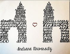 Indiana University Sample Gates by Quickvites on Etsy, $20.00