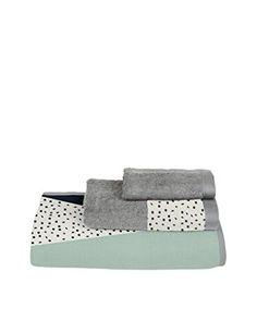 Surdic handdoek set van 3 Geometrische 1 grijs