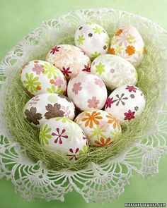 Tissue Paper Easter Eggs How-To