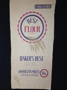 Vintage Feedsack fabric  Unbleached Best by KoopsKountryKalico, $9.99