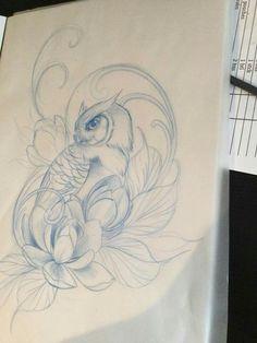 Carp Tattoo, Fox Tattoo, Bird Tattoos, Diadem Tattoo, Fresh Tattoo, Professional Tattoo, Traditional Tattoo, Tattoo Studio, Drawing Ideas