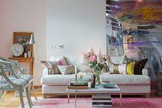 Loft feminino em rosa e azul