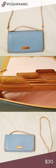 ad02ccd5b6 Adrienne vittadini clutch and crossbody purse Adrienne vittadini baby blue  and brown purse. It has