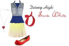 """Disney High School: Snow White"" by imissyoucupcake on Polyvore"