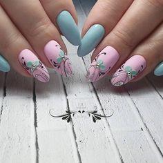 Simple Almond Nail Ideas For Grooming Your Fingers - Page 10 of 12 - Vida Joven Rose Nail Art, Nail Art Set, Rose Nails, Gel Nail Art, Flower Nails, Gold Glitter Nails, Cute Acrylic Nails, Classy Nail Designs, Nail Art Designs