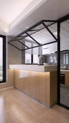 Kitchen Room Design, Home Room Design, Modern Kitchen Design, Home Decor Kitchen, Modern House Design, Interior Design Kitchen, Simple House Interior Design, Small Room Design, Apartment Interior