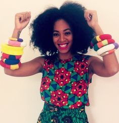 solange wearing african bangles