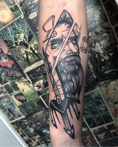 """Paulo on Instagram: """"MAIS UMA PRA CONTAAAA!!! E VOCÊ? TA ESPERANDO O QUE PRA VIR FAZER A SUA? Trabalho que rolou nesse fim de semana que eu me amarrei em…"""" Poseidon Tattoo, Sleeve Tattoos, Skull, Instagram, Ideas, Tattoo Sleeves, Thoughts, Arm Tattoo, Arm Tattoos"""
