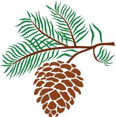 pine cones pine cone and pine needles free clip art pine cone rh pinterest com pine cone pictures clip art pine cone border clip art